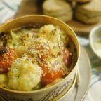 「颯爽な家政婦さん」(小池田マヤ)ライ麦のスコーン&カリフラワーとプチトマトのモンドールグラタン