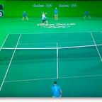 オリンピック 男子テニスシングルス決勝戦の舞台がクロマキー合成されて宇宙空間に?