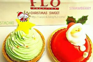 FLO PRESTIGE PARIS~CHRISTMAS SWEET・ピスタチオクリスマスツリーケーキ・サンタの苺ドームケーキ~