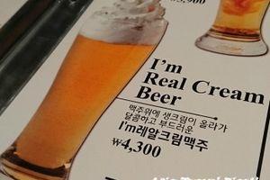 明洞で生クリームビールとチキンのチメッ♪ @チルチル明洞本店
