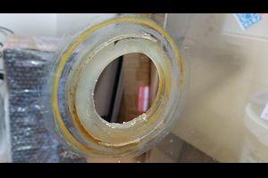 中古OF水槽のリフレッシュ、フランジの後付け。