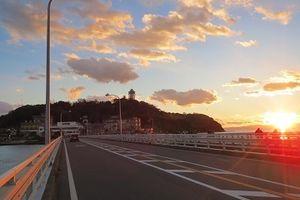 夕焼け江の島ポタ