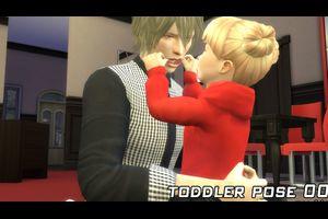 toddler pose 001(オカンシムズ4) 【配布】