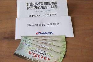 ヤマダ電機の株主優待が届きました。