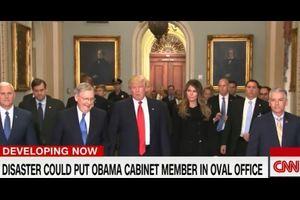 CNNテレビはもし20日の大統領就任式でトランプ氏が殺害された場合、誰が大統領になるかというシュミレーション内容を放映した