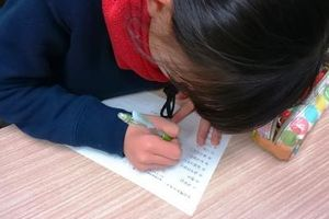 小6クラスの漢字テストです。