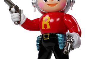 ロケットボーイのソフビ人形 赤シャツ / Rocket Boy red ver.