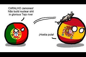 【スペイン】ポルトガルは核が嫌いだよ【ポーランドボール】