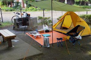 都心でテント泊ができる「城南島海浜公園キャンプ場」
