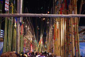 茨城県古河市、関東三大奇祭、提灯竿もみ祭り