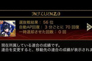 【攻城戦】選抜戦お疲れ様でした インフルエンザ連合は56位でした! インフルメンバー紹介