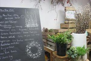 今年初のお花の教室