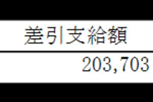 最後のお給料【2017年1月】