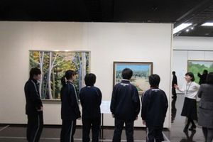 「色とカタチ展」プレオープンに美術部が参加しました