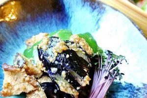 お弁当の簡単おかず/茄子の素揚げ胡麻味噌和え