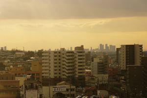 瀬戸蔵展望塔から見た名古屋駅前の超高層ビル群と瀬戸蔵ミュージアム