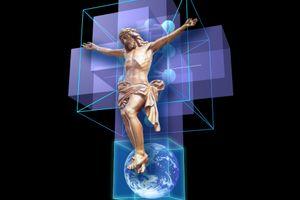 聖なる十字架が浮かび上がる