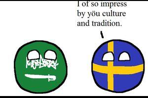 【スウェーデン】スウェーデンの態度【ポーランドボール】
