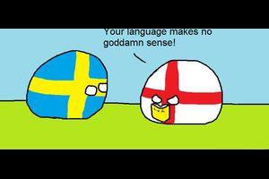 【イギリス-スウェーデン】おかしな言語【ポーランドボール】