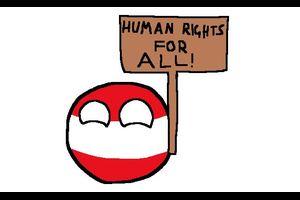 【オーストリア】すべての人に人権を【ポーランドボール】