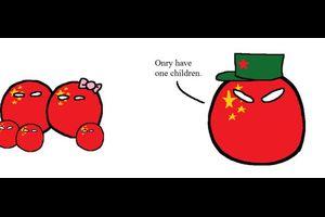 【中国】人口削減【ポーランドボール】