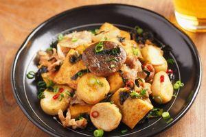 メシ通!エリンギと豆腐のオイスターソース炒め、エリンギがホタテのような食感になります。