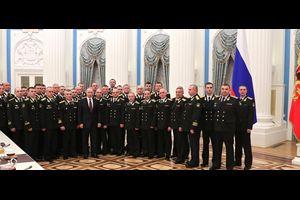 シリア軍事作戦へ参加したロシア海軍北方艦隊の空母部隊の将兵はクレムリンで表彰を受けた