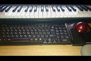DTMで使用する鍵盤、PCキーボード、マウスの配置