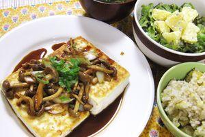 キノコの豆腐ステーキ