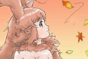 秋のうさぎっこ☆何か着なくていいのっ(O_O);
