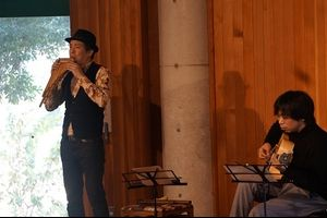 きのうの週末ミニコンサートは、フォルクローレでした。