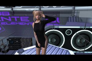 [sYs] FAME dress (fitted & body mesh) - black