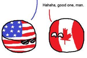 【アメリカナダ】偽物カナダ【ポーランドボール】