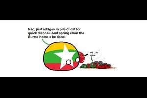 【ミャンマー】春の民族大掃除【ポーランドボール】
