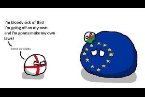 【イギリス】イングランドがようやく独自の法を作ったよ【ポーランドボール】