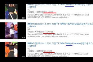 TWICE  TT Fancamで、各メンバーの再生回数を調べてみる。