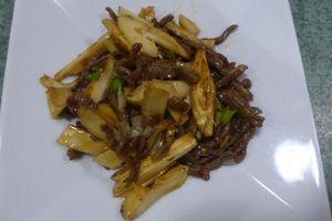 松茸と牛肉炒め!