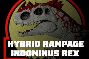 JURASSIC WORLD DINO HYBRID HYBRID RAMPAGE INDOMINUS REX -ハイブリッドランページ インドミナスレックス-