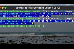 AnsiWeather 色つきのテキストと記号で端末に天気を表示するコマンド