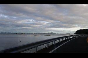 台風の過ぎた港