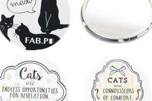 【3種類】 ネコ モチーフミラー 鏡