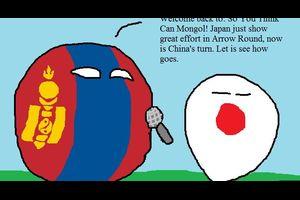 【日本&モンゴル】モンゴル出来るかな?【ポーランドボール】