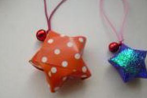 折り紙で作るラッキースター作り喜んでもらえました。