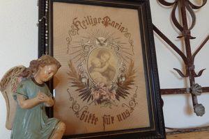 マリア様の刺繍画、サンアマンスーピエール、テディベアなどアンティーク16点更新