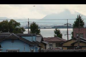 窓から見た琵琶湖(9月26日8時頃)コアユパターンが続きそうな天気!!