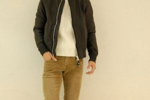 AWESOME LEATHER / type MA-1 Leather Blouson