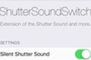 ShutterSoundSwitch スクリーンショットやシャッター音をOFFにする