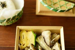 鶏もも肉とエリンギのバターポン酢炒め弁当