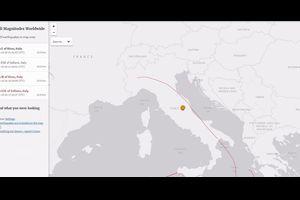 イタリアでM5クラスの地震が相次ぐ「M6.1」「M5.5」 震源の深さは約9kmと8km