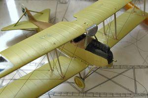 Rumpler C1 : その6 機体記号の塗装完了、張り線開始